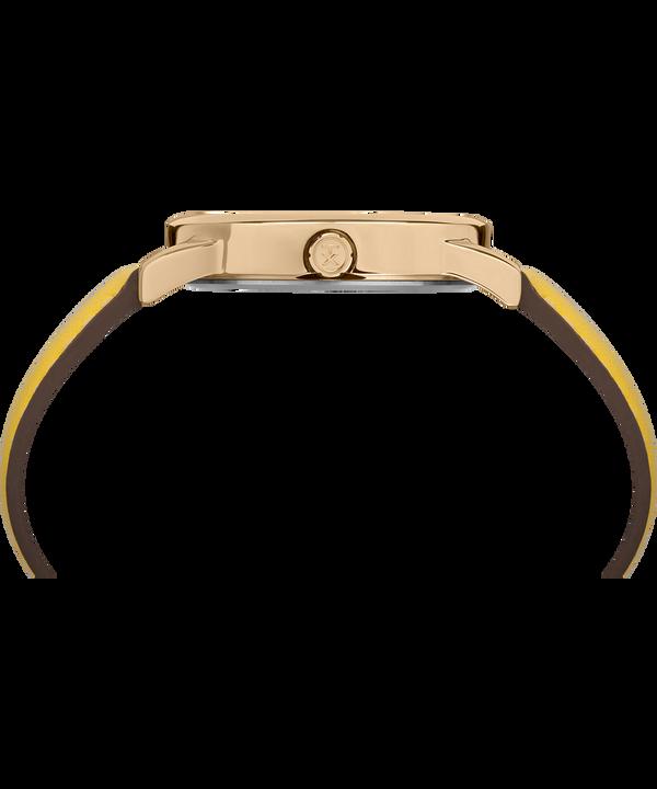 Montre Easy Reader Color Pop 38mm Bracelet en cuir Doré/Jaune/Crème large