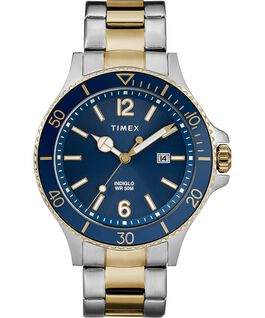 Montre bracelet Harborside 42 mm Bicolore/Bleu large