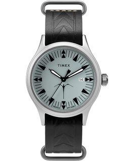 Montre Timex x Keone Nunes 40mm Bracelet en cuir Argenté/Noir/Gris large