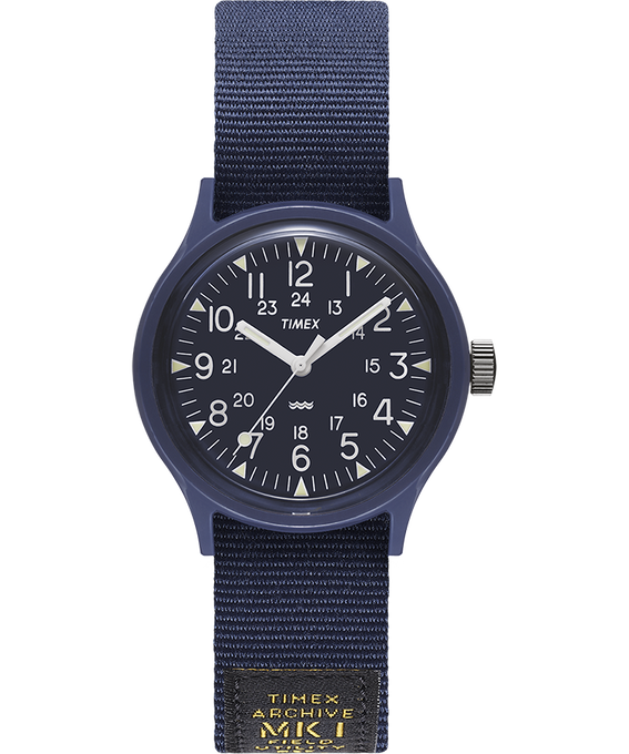 Montre MK1 Military 36 mm Bracelet en gros-grain Bleu large