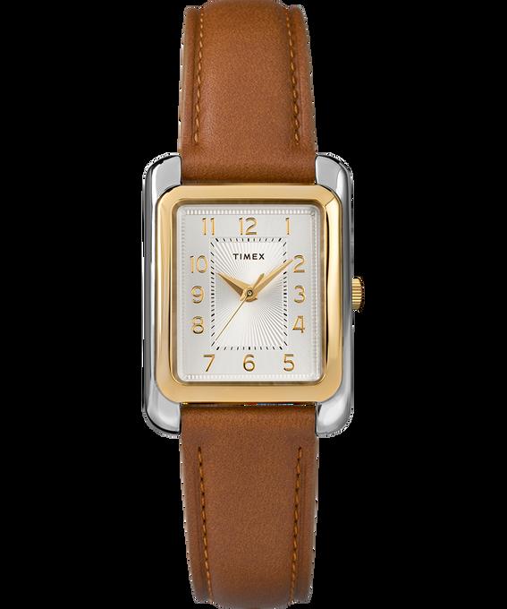 Montre Meriden 25mm Bracelet en cuir Bicolore/Marron/Argenté large