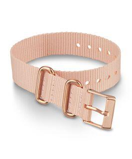 Bracelet une pièce en tissu une couche 16mm boucle or rose Rose large