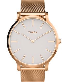 Transcend 38mm Stainless Steel Mesh Band Watch Rose-Gold-Tone/Pink large