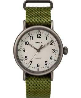 Montre Standard 40 mm bracelet en tissu Black/Green/Natural large