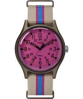 Montre MK1 California 40 mm Bracelet en tissu Brun/Rose large