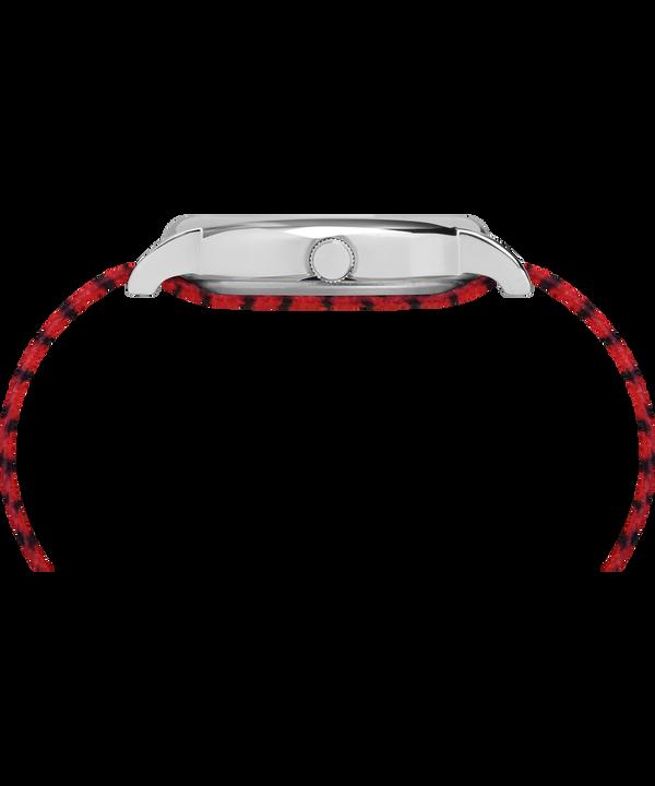 Timex x Peanuts - Montre Linus 38mm Bracelet en nylon Silver-Tone/Red/White large