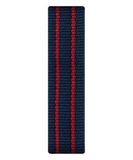 Bracelet une pièce en nylon rouge/bleu  large