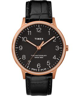Waterbury-40mm-Classic-Leather-Croco-Strap-Watch Rose-Gold-Tone/Black large