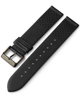 Bracelet en cuir perforé à dégagement rapide 20mm 1 Noir large