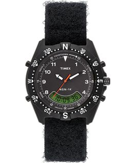 Montre NSN 1K 39mm bracelet en tissu Noir large