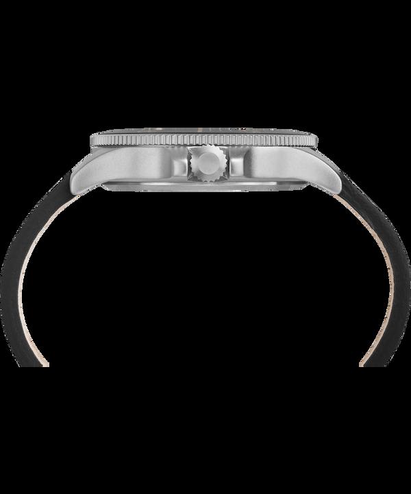 Montre Allied Coastline 43mm Bracelet en cuir Silver-Tone/Black large
