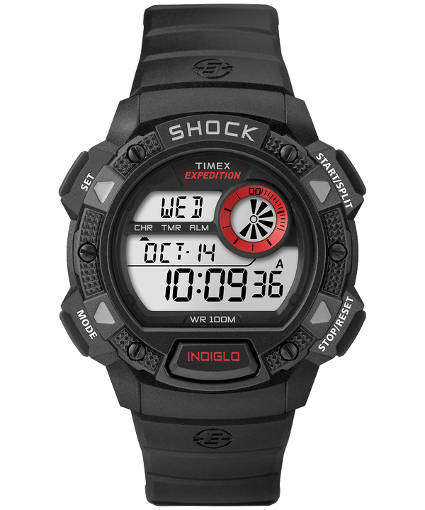 Montre Expedition Base Shock 45 mm Bracelet en résine Black/Red large