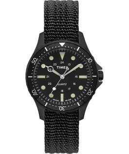 Montre Navi Harbor 38mm Bracelet en tissu Noir/Noir large