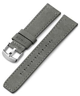 Bracelet en cuir à dégagement rapide 22mm Gris large