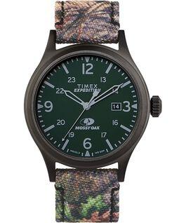 Montre Timex x Mossy Oak Expedition Scout 40mm Bracelet en tissu Noir/Marron large