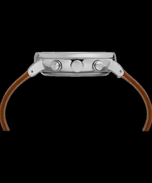 Montre chronomètre Fairfield Supernova™ 41mm Bracelet en cuir Brown/Silver large