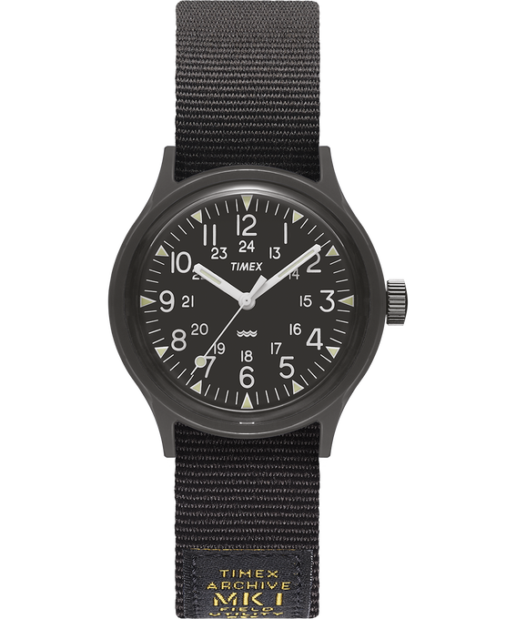 Montre MK1 Military 36 mm Bracelet en gros-grain Noir large