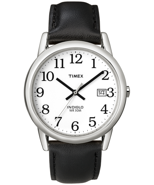 Montre Easy Reader 35 mm Bracelet en cuir Silver-Tone/Black/White large
