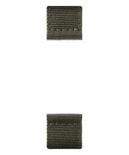 Bracelet en deux parties en nylon vert olive  large