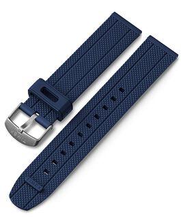 Bracelet en silicone à dégagement rapide 20mm Bleu large