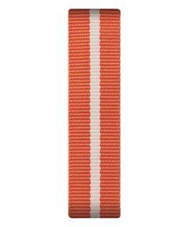 Bracelet une pièce en nylon orange/blanc  large