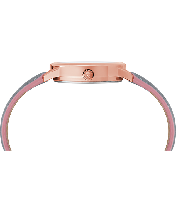 Easy Reader Color Pop 30mm Leather Strap Watch Rose-Gold-Tone/Gray/White large