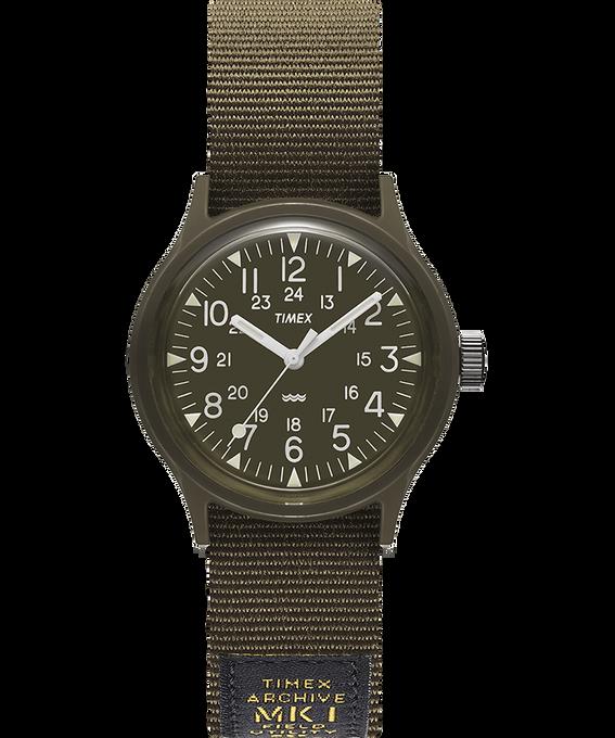 Montre MK1 Military 36mm Bracelet en gros-grain Noir/Vert large