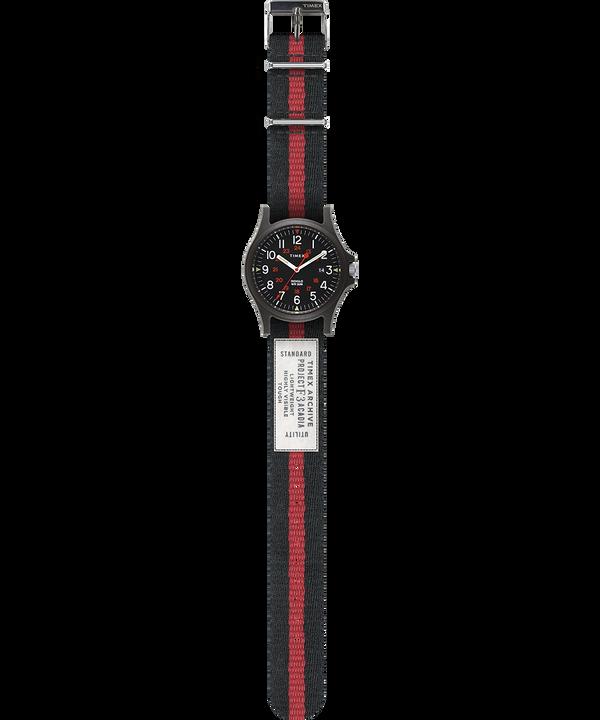 Montre Acadia 40mm Bracelet en tissu Noir large