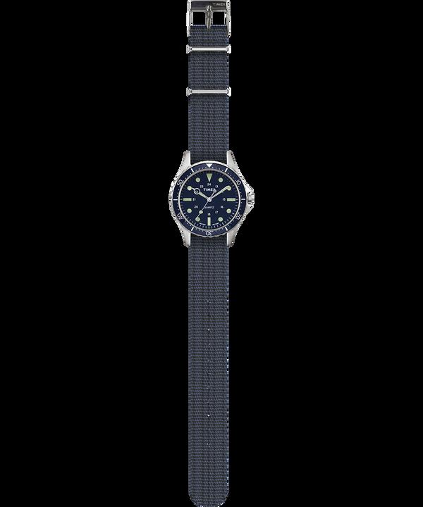 Montre Navi Harbor 38mm Bracelet en tissu Bleu/Bleu large