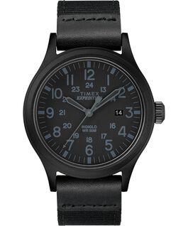 Montre Scout 40mm Bracelet en tissu Noir large