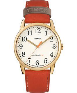Easy-Reader-38mm-Exclusive-Color-Pop-Leather-Womens-Watch Doré/Orange/Crème large