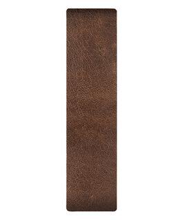 Bracelet une pièce en cuir marron/Contour bronze  large