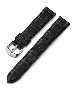 Bracelet en cuir à dégagement rapide 18mm Noir large