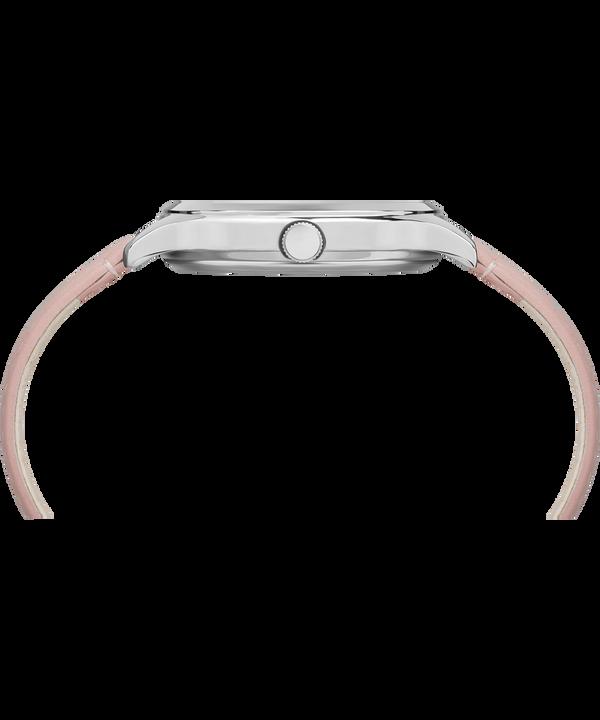 Montre Crystal Bloom 36mm Bracelet en cuir Chrome/Pink large