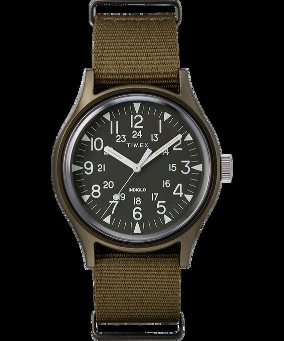 MK1 Aluminum 40mm Nylon Strap Watch Brown large