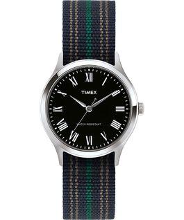 Montre Whitney Avenue 38mm bracelet en tissu Acier inoxydable/Noir large