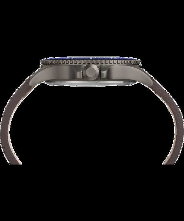 Montre Expedition Ranger 43mm Bracelet en cuir Gunmetal/Brown/Blue large