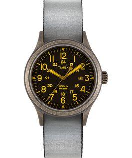 Montre Allied 40mm avec bracelet en tissu réversible et réfléchissant Doré/Noir large