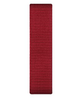 Bracelet une pièce en nylon rouge  large