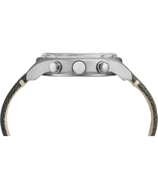 Montre chronomètre MK1 42mm Acier et Bracelet en tissu Stainless-Steel/Green large