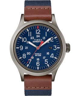 Montre Scout 40mm Bracelet en tissu Gris/Bleu large