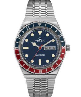 Montre Q Timex Reissue 38mm Bracelet en acier inoxydable Acier inoxydable/Bleu large