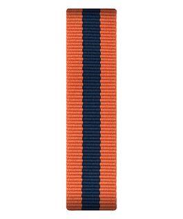 Bracelet une pièce en nylon orange/bleu  large