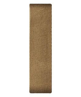Bracelet une pièce en tissu brun clair  large