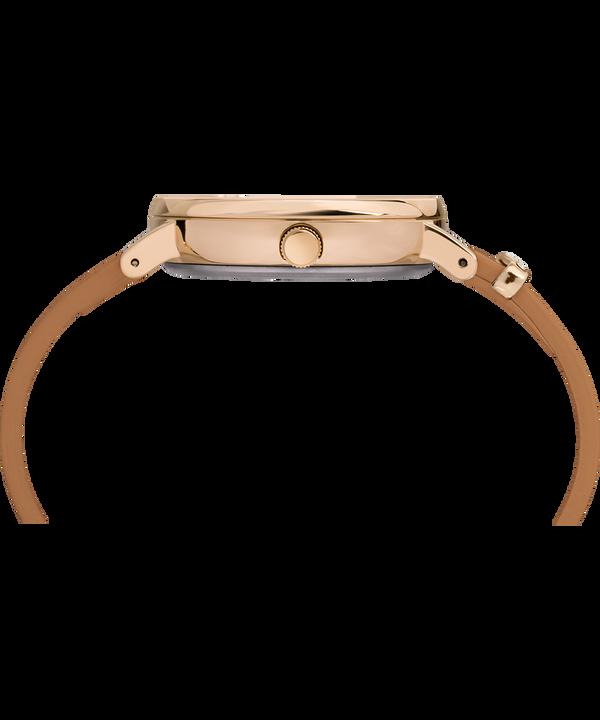 Montre Fairfield Crystal 37 mm avec cristaux Swarovski® et bracelet en cuir Rose-Gold-Tone/Tan/Cream large