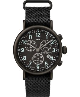 Montre chronomètre Standard 40mm bracelet en tissu Noir large
