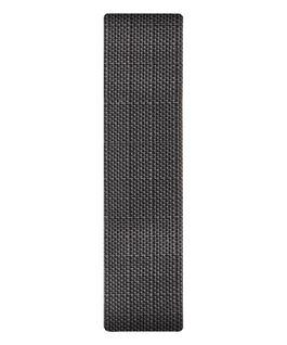 Bracelet une pièce en tissu gris  large