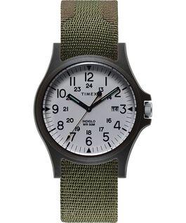 Montre Acadia 40mm Bracelet en tissu Vert large