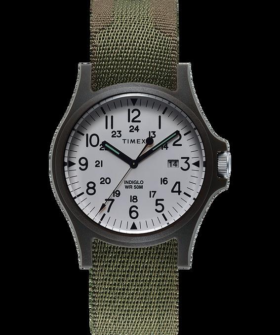 Montre Acadia 40mm Bracelet en tissu Green large
