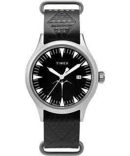 Montre Timex x Keone Nunes 40mm Bracelet en cuir Argenté/Noir large